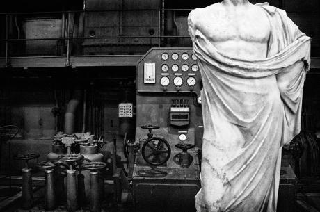Busto romano e turbina