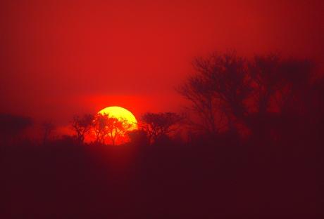 tramonto al Kruger Park