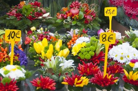 fiori a campo de' fiori a Roma