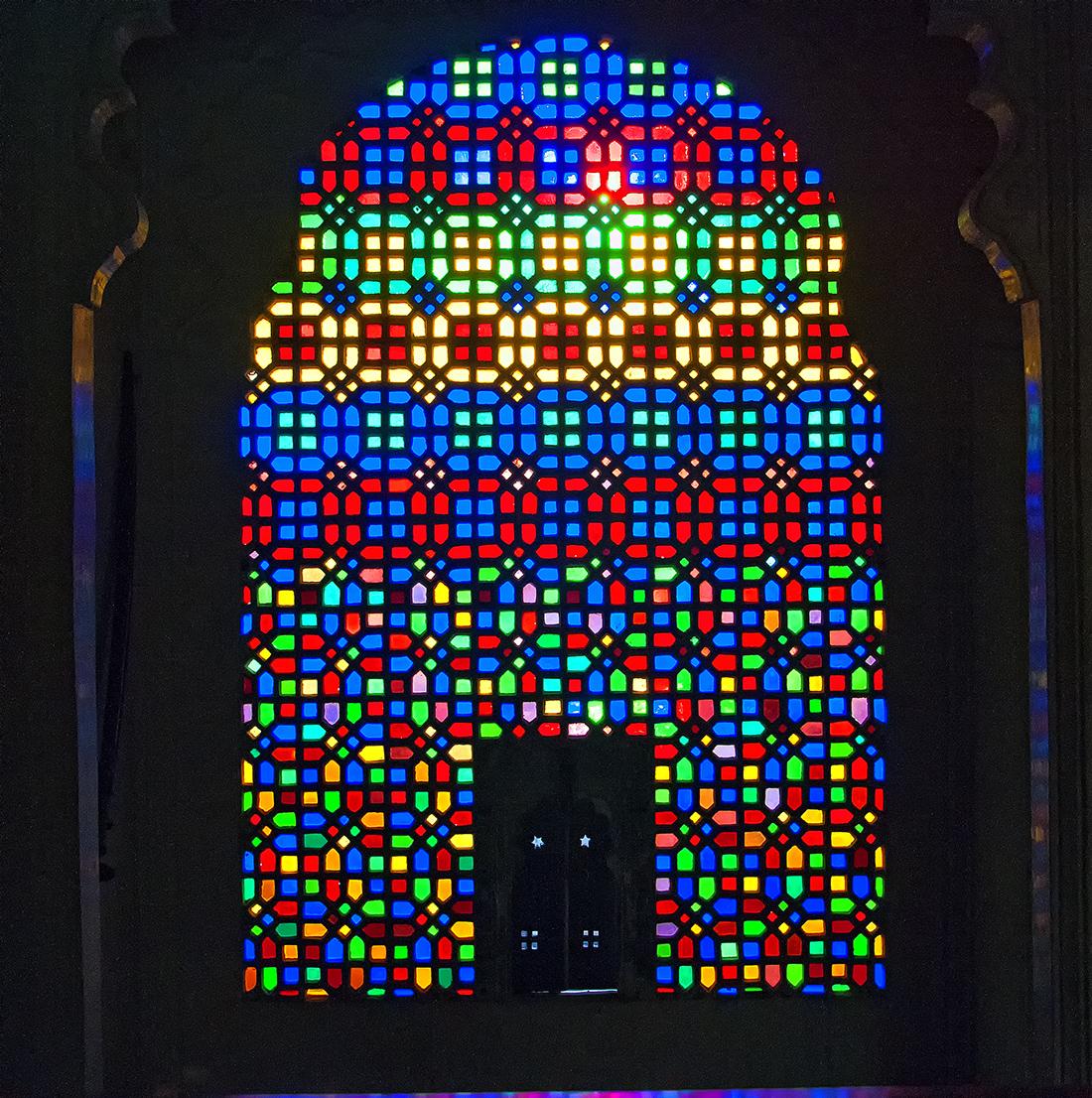 Vetri colorati ad Udaiput