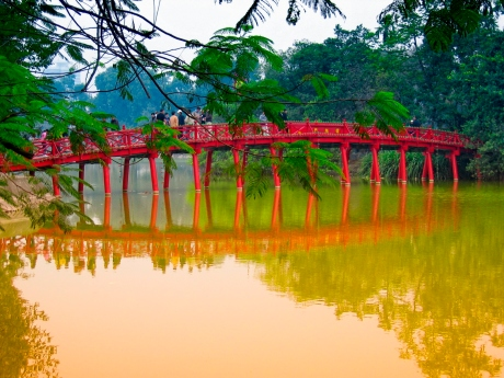 a bridge at Hanoi