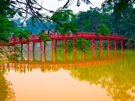 a bridge at Hanoi