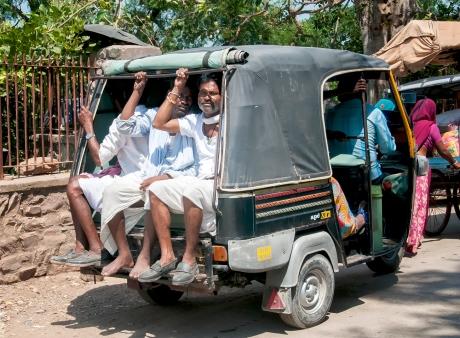 minibus di gruppo in India